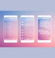 messaging app mockup vector image