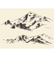 Mountains Forest Contours Engraving vector image vector image