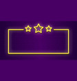 neon stars frame lighting transparent color vector image vector image