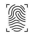 outline fingerprint vector image