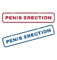 Penis Erection Rubber Stamps vector image vector image