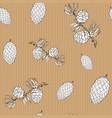 pine cones hand drawn sketch retro vintage vector image