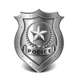 police badge isolated on white vector image