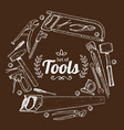 repair tools sketch vector image