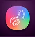 reusable metal tea infuser app icon vector image