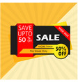 sale save up to 50 huge sale more than this week vector image vector image
