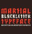 Sanserif font in black letter style