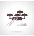 Scanning UAV flat icon vector image
