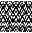 seamless black and white ikat ethnic pattern vector image