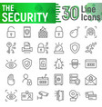 security line icon set protection symbols vector image vector image