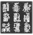 set of ornament in style of the maya vector image