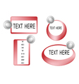 Set of Red Banner On White Background vector image vector image