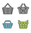 shop basket logo vector image vector image
