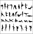 Silhouettes Exercise vector image vector image