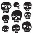 skulls cartoon set vector image vector image