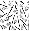 snowdrop pattern vector image vector image