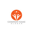 star people logo success template icon design vector image vector image