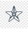 starfish concept linear icon isolated on vector image