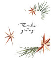 thanksgiving poster with gold foil sparkle stars vector image