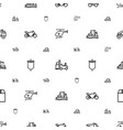 transport icons pattern seamless white background vector image vector image