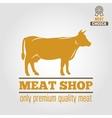 vintage labels logo emblem templates butchery vector image