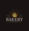 vintage retro hipster label emblem bakery logo vector image vector image