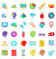web folder icons set cartoon style vector image vector image