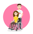 young woman in wheelchair vector image