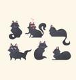 cute grey cat - modern cartoon characters vector image