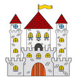 castle icon made in cartoon flat style medieval vector image