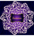 Invitation card with Lacy mandala in the Indian vector image