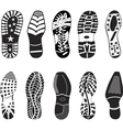 a collection of various highly detailed shoe track vector image