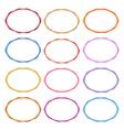 Colorful Set of Oval Vintage Frames vector image