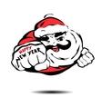 cool Santa Claus flies like Superman vector image