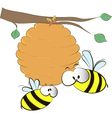 hive on branch vector image