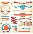 Christmas Ribbons Labels Set vector image