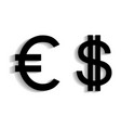 3d of currency symbols set vector image vector image