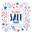 4th of july sale independence day flyer vector image