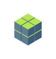 8 cubes or blocks isometric logo design stock