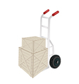 A Hand Truck Loading Two Shipping Boxes vector image vector image