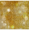 Abstract square golden mosaic background vector image vector image