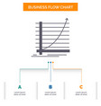 arrow chart curve experience goal business flow vector image vector image