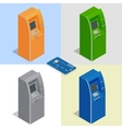 ATM machines Payment using credit card Banking vector image