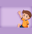 background template design with happy boy