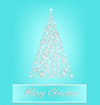 beautiful white snowflake christmas tree on the vector image vector image
