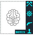brain icon flat vector image vector image