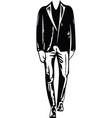 business man black silhouette vector image vector image
