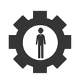 Businessman theme design icon vector image