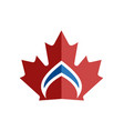 canadian leaf crown symbol vector image