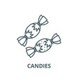candies line icon linear concept outline vector image